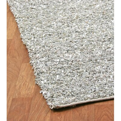 St. Croix Pelle Short Leather White Rug