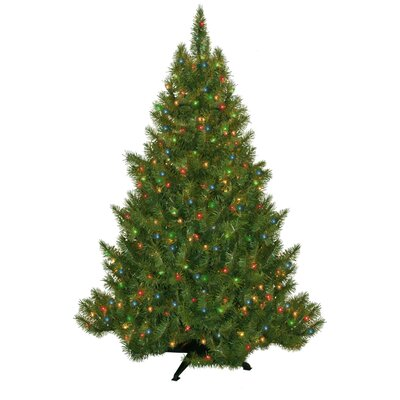 General Foam Plastics Evergreen Fir Prelit Christmas Tree with 250 Multicolored Lights