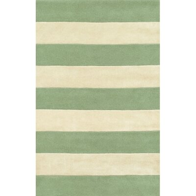 Beach Rug Seafoam/Ivory Boardwalk Stripes Rug