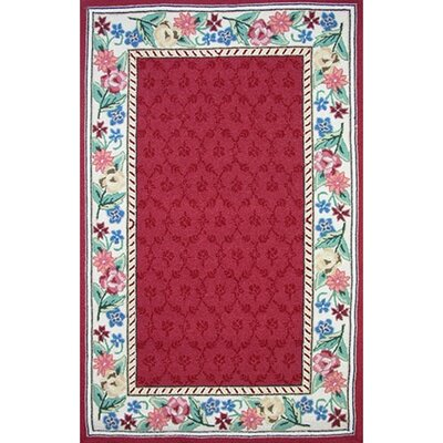 American Home Rug Co. Bucks County Burgundy/Ivory Damask Rug