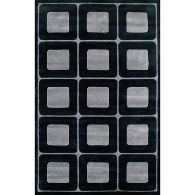 Modern Living Deco Blocks Black/Gray Rug