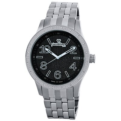 JBW Men's Pantheon Watch in Silver with Black Dial