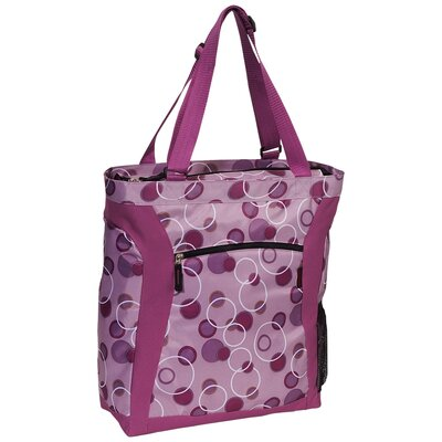 Pattern Shopper Tote with Laptop Compartment