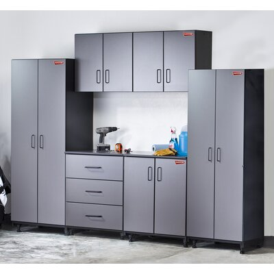 Tuff-Stor 6 Piece Storage System in Charcoal Grey and Textured Black