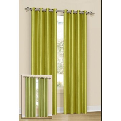 DR International Silk Grommet Axis Curtain Single Panel