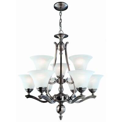 DVI Devonshire 9 Light Up Chandelier