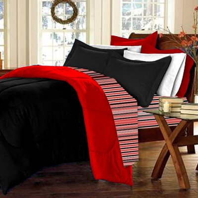 10-Piece Twin XL-Size Dorm Room in a Box in Red / Black