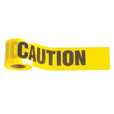 "Johnson Level and Tool Yellow Caution Tape 3"" x 300'"