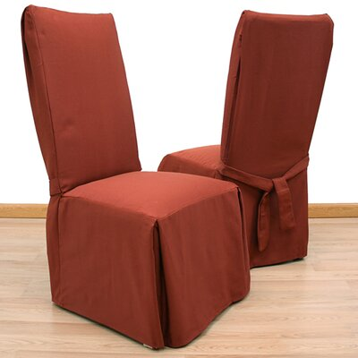 Elegant Ribbed Dining Chair Slipcover