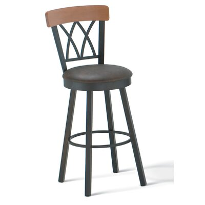 "Amisco Brittany 30"" Swivel Barstool with Memory Return"