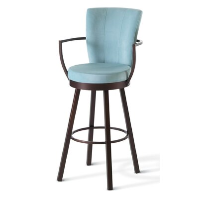 "Amisco Cardin 30"" Swivel Barstool"
