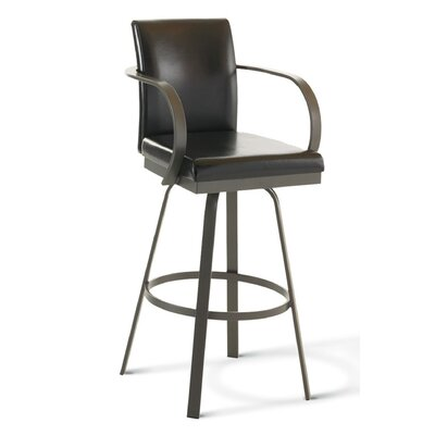 Amisco Lance 26&quot; Swivel Counter Stool
