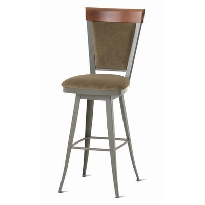 "Amisco America 30"" Eleanor Swivel Bar Stool"