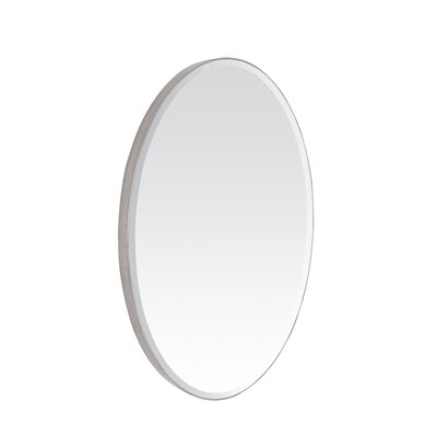 Contemporary Oval Bevel Wall Mirror
