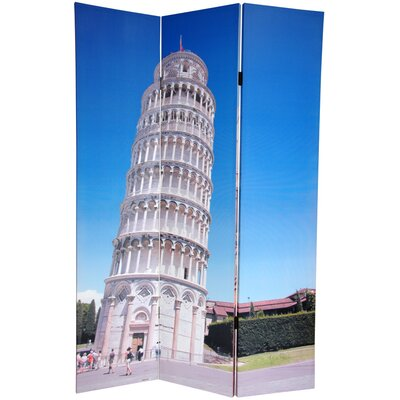6Feet Tall Double Sided Pisa and St. PeterFeets Canvas Room Divider