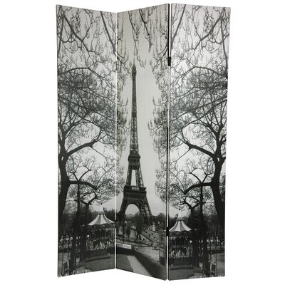 6 Feet Tall Double Sided Paris Room Divider