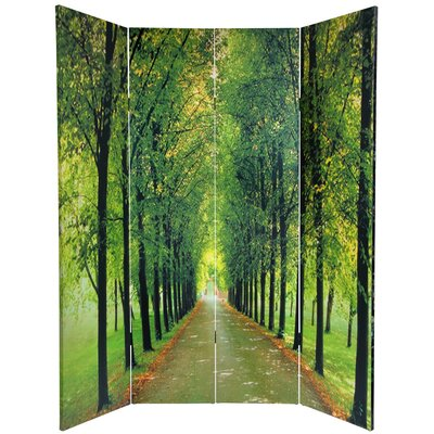 Oriental Furniture 6 Feet Tall Double Sided Path of Life Canvas Room Divider