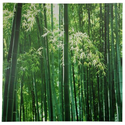 "Oriental Furniture Bamboo Canvas Wall Art - 31.5"" x 31.5"""