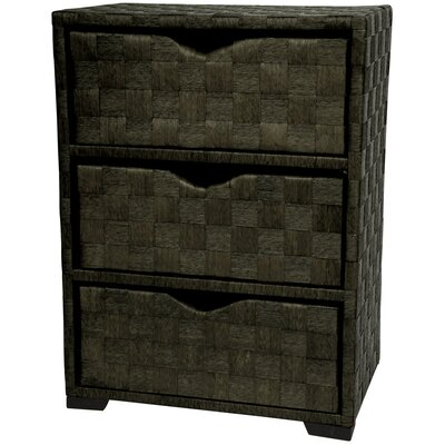 "Oriental Furniture 25"" Chest of Drawers in Black"