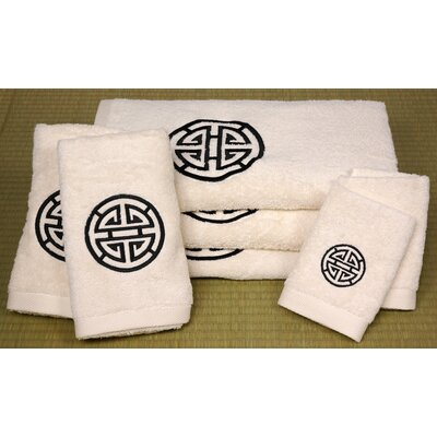 Oriental Furniture 7 Piece Shou Long Life Bath Set