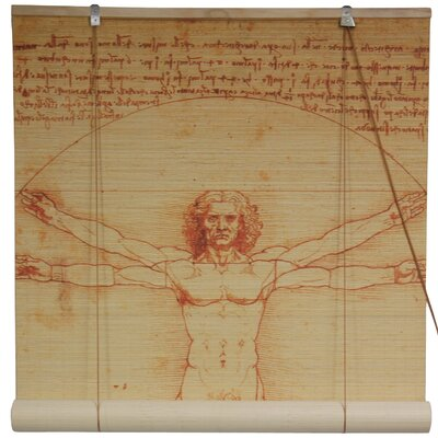 Oriental Furniture Vitruvian Man Bamboo Blinds