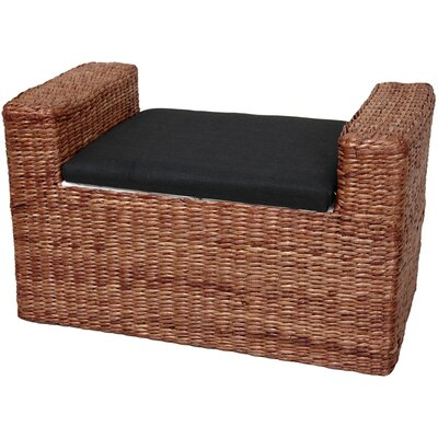 Oriental Furniture Rush Grass Storage Bench