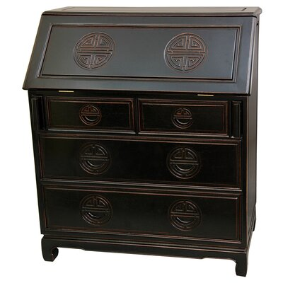 Oriental Furniture Classic Secretary  Desk