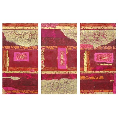 "Oriental Furniture Avant-Garde Canvas Wall Art - 36"" x 18"" (Set of 3)"