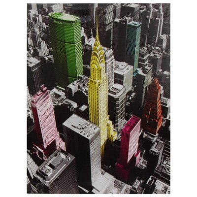 Oriental Furniture High-Lights of New York Canvas Wall Art - 31.5&quot; x 23.5&quot;