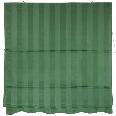 "Oriental Furniture 72"" Striped Roman Retractable Blinds in Soft Green"