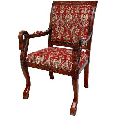 Queen Anne Fabric Arm Chair