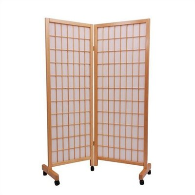 Oriental Furniture Meditation Folding Room Divider in Natural