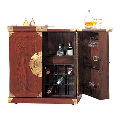 Oriental Furniture Chinese Brass Home Bar