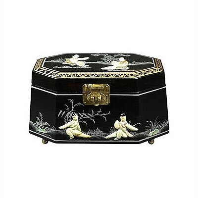 Oriental Furniture Antoinette Asian Jewelry Box