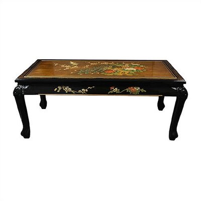 Gold Leaf Coffee Table with Claw Feet