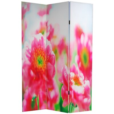 Double Sided Summer Flowers Canvas Room Divider