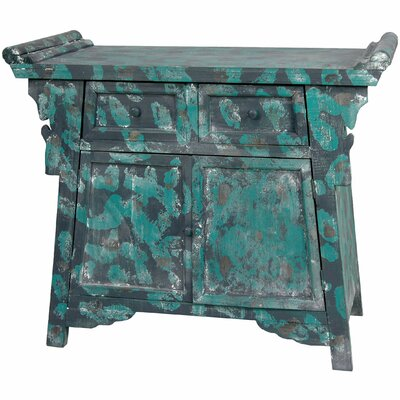 Oriental Furniture Distressed Altar Cabinet