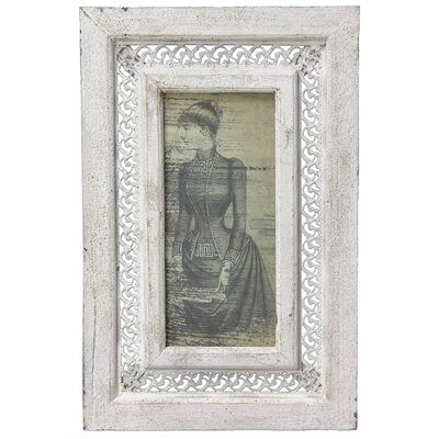 Rustic Victorian Lady Framed Picture