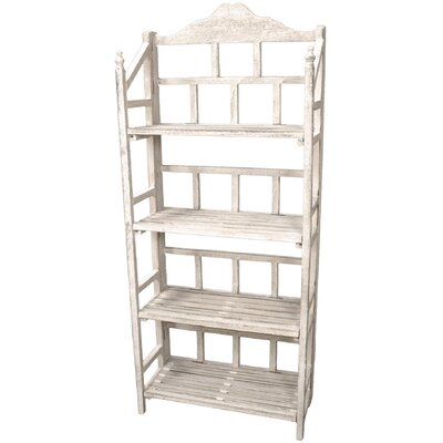 Oriental Furniture Distressed Slatted Shelving Unit