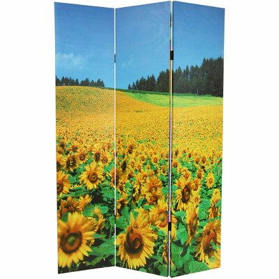 Floral Double Sided Canvas Room Divider