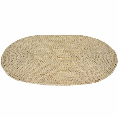 Oriental Furniture Maize Natural Oval Rug