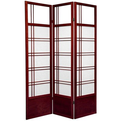 Oriental Furniture Kumo Classic Shoji Room Divider in Rosewood