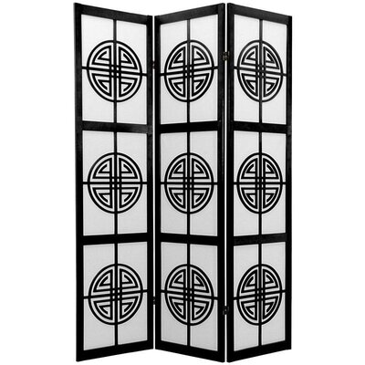 Long Life Decorative Shoji Room Divider in Black