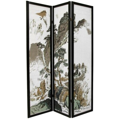 Oriental Furniture Asian Landscape Decorative Room Divider