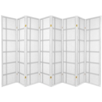 Oriental Furniture Double Cross Shoji Screen in White