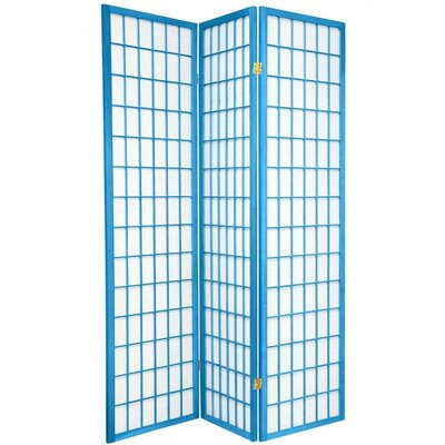 Oriental Furniture Window Pane in Blue