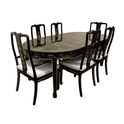 Oriental Furniture 7 Piece Dining Set