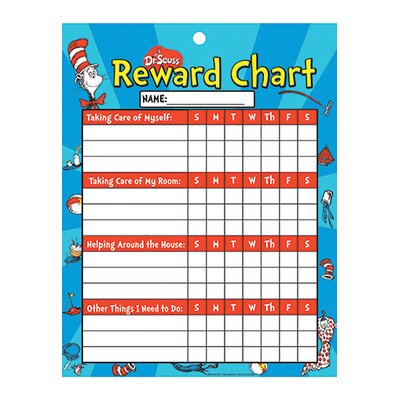 Eureka! Chore Chart Cat In Hat Reward