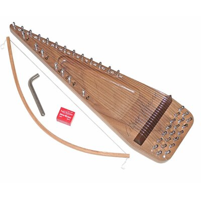 Zither Heaven Twenty String Black Walnut Bowed Psaltery
