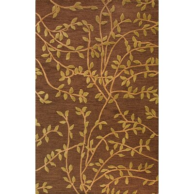 Bashian Rugs Verona Leaves Chocolate Rug